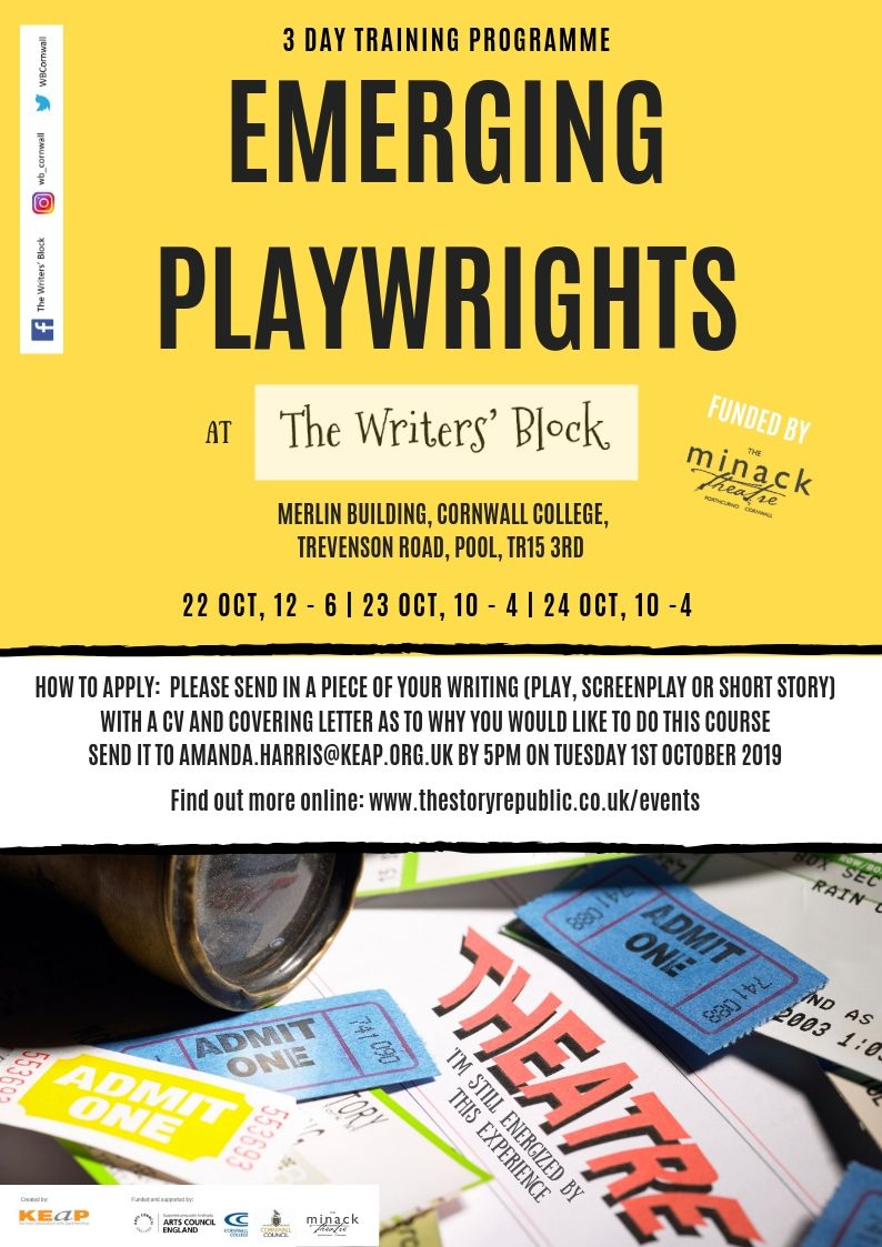 Emerging Playwrights Poster 2019